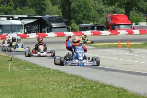 Tony Jump drove to his first victory with the KartSport North America operation