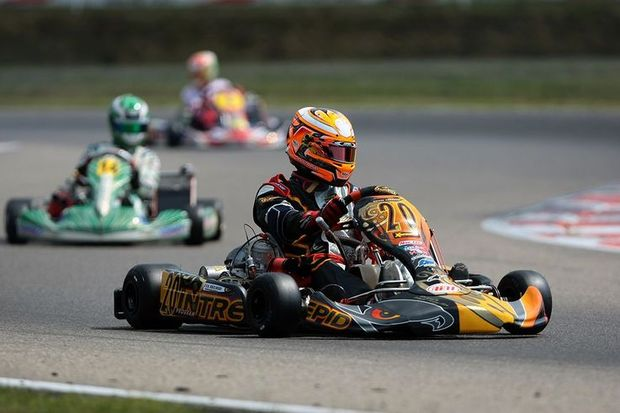 Arnaud Kozlinski was the fastest in KZ qualifying practice at Genk (Photo: press.net Images)