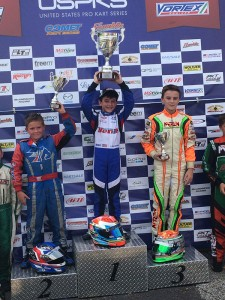 Lachlan DeFrancesco secured BENIK Kart's first USPKS victory in South Bend, Indiana  (Photo: Benik-Kart.com)