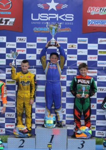Giovanni Bromante found his way to the top step of the podium giving Top Kart another victory in 2014  (Photo: eKartingNews.com)