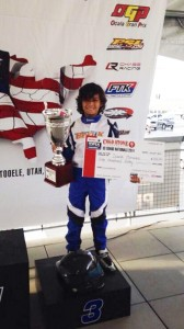 David Morales scored a podium result for BENIK Kart at the Cold Stone US Grand Nationals (Photo: Benik-Kart.com)