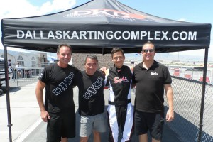 Mike Jones (left) and Kevin Adds (right) of Dallas Karting Complex/Sodi Kart USA with Brian and Trenton Estep (Photo: eKartingNews.com)