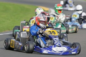 Formula Junior class winner Dylan Drysdale from Palmerston North leading one of his heats (Photo: Fast Company/Graham Hughes)