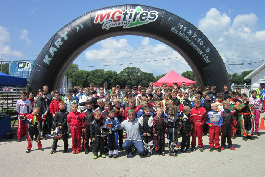 Group shot of drivers with MG Tire's Wagner Rossi (Photo: Joe Brittin)