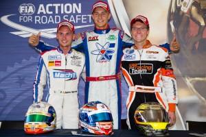 KZ2_Podium CIK-FIA European Championships Wackersdorf