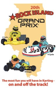 Rock Island Grand Prix T-Shirt design for 2014 developed by Bob Cole