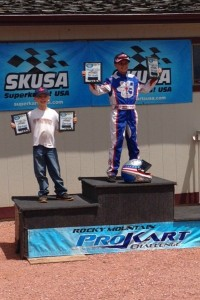 Rayce Dykstra won both main events in the Micro Max category  (Photo: Rocky Mountain ProKart Challenge)