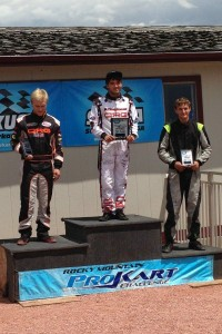 Ryan Rudolph doubled up at SBR Motorsports Park in the S2 Semi-Pro division (Photo: Rocky Mountain ProKart Challenge)