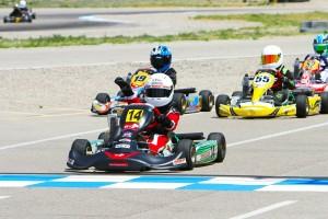 Last lap maneuvers put Josh Pierson in the runner-up spot for Micro Max (Photo: Ken Johnson - Studio52.us)