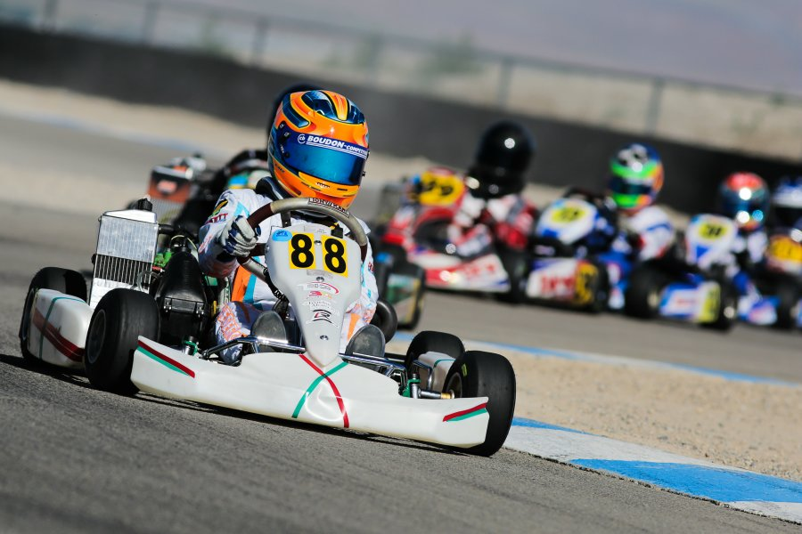 Kaylen Frederick leading the Mini Max field at the Rotax Summer Shootout (Photo: Ken Johnson - Studio52.us)