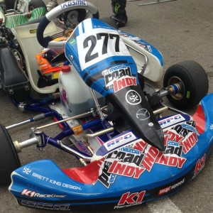 Austin Versteeg's Mazda Road to Indy bodywork without a scratch after passing over 70 karts in five races