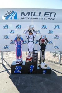 Jak Crawford stood on top of the podium in Micro Max Saturday afternoon (Photo: Studio52.us)