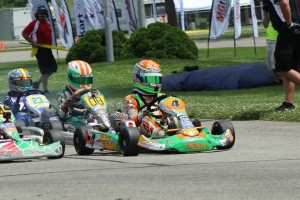 Alex Bertagnoli looks to keep pacing the Mini Rok Cadet field during the PIRC weekend (Photo: EKN)