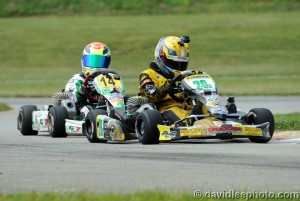 It was a come from behind type of day for John Paul Southern, earning the win in Mini Rok Cadet (Photo: DavidLeePhoto.com)
