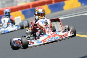Nick Brueckner drove his Birel kart powered by Comet Racing Engines to the podium in both TaG Junior main events (Photo: On Track Promotions - otp.ca)