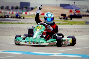 Garrison crossing the line at the Cold Stone US Grand Nationals for the Junior Max victory (Photo: Ken Johnson - Studio52.us)