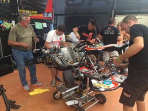 Joey Wimsett changing over to a new chassis after just one session (Photo: Johnco Racing)