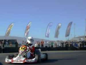 Chance Skaufel on his way to another PRD Junior podium at LAKC (Photo: Los Angeles Karting Championship)