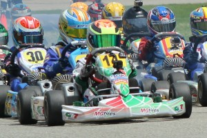 Dylan Tavella leads the Mini Rok Cadet championship (Photo: EKN)
