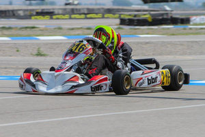 Sting Ray Robb has been at the front of the Rotax Junior field all season long (Photo: BBR Karting)