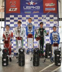 Anthony Gangi Jr. claimed third in the Leopard 125 Junior USPKS championship standings (Photo by: DavidLeePhoto.com)