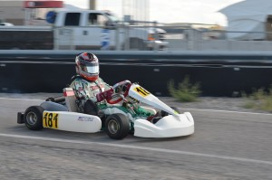 Payton Durrant was behind the wheel of a Tony Kart this past weekend at Miller Motorsports Park (Photo: Sydney Hess)