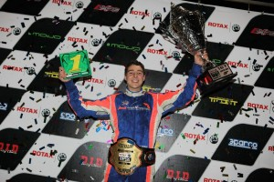 Zane Morse celebrating his Junior Rotax National Championship  (Pic: Coopers Photography)