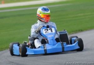 Simpson piloted a brand new Top Kart, driving 165 laps to the win (Photo: DavidLeePhoto.com)