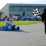 Jimmy Simpson taking the checkered flag for his first RoboPong victory (Photo: DavidLeePhoto.com)