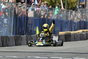 A last lap pass secured the TaG Master victory for Kevin Manning (Photo: dromophotos.com)