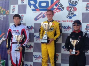 AJ Myers is all smiles after claiming the Rok Shifter Rok Cup USA championship (Photo: AJ Myers Racing)