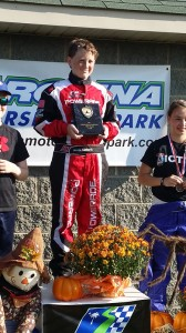 Joseph Lamberth is all smiles on the top step of the podium at Carolina Motorsports Park  (Photo: Brandy Lamberth)