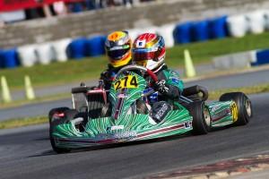 Nick Brueckner drove his Orsolon Racing Tony Kart to a third place finish in Junior Max (Photo: Studio52.us)
