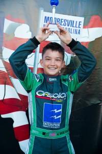 Brueckner celebrating his third straight podium finish in the last two events (Photo: Studio52.us)