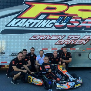 Dalton Sargeant put PSL and CRG on the podium in Senior Max (Photo: PSL Karting)