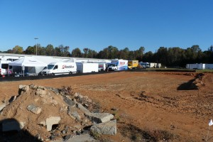 Construction underway for the new shop at GoProMotorplex
