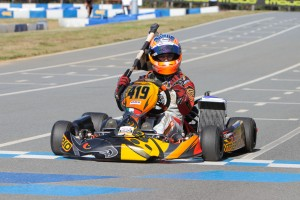 UK driver Ed Brand triumphed in DD2, accepting the Rotax Grand FInals ticket to relinquish his Senior Max spot from the Euro Challenge  (Photo: Studio52.us)