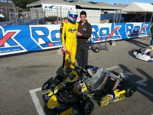 Rok Cup USA champion AJ Myers qualified 12th in Rok Shifter (Photo: Checkered Motorsports)