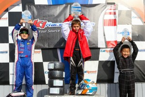 Cole Keith Cotham secured the P1 position in the Micro Max standings, with Ethan Ho and Tyson Quach (Photo: SeanBuur.com)