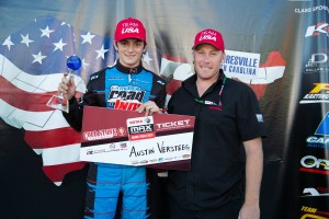 Austin was awarded the first ticket in the world to the 2015 Rotax Max Challenge Grand Finals (Photo: Studio52.us)