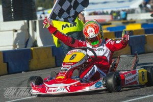 A perfect score in Las Vegas for Paolo de Conto as the BirelART driver conquered the KZ2 division (Photo: On Track Promotions - otp.ca)