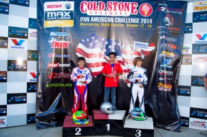 Micro Max podium at the Cold Stone Pan American Challenge