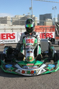 David Sera aboard his 'Deadly Kart' chassis brand (Photo: EKN)