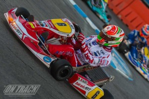 Italian Paolo de Conto is perfect in KZ2 after two days of racing (Photo: On Track Promotions - otp.ca)