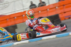 It was the first pole position earned by Italian Paolo de Conto in KZ2 (Photo: On Track Promotions - otp.ca)