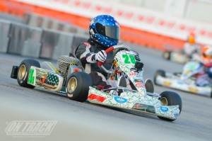 A late charge by Trey Brown earned him the number one spot in TaG Cadet qualifying (Photo: On Track Promotions - otp.ca)