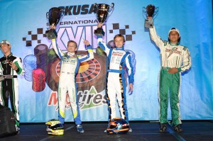 David Malukas was another Top Kart driver at the front of the field in Las Vegas (Photo: On Track Promotions)