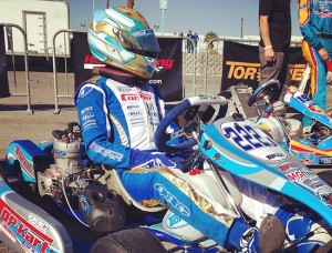 TaG Junior driver Zach Holden waits patiently for the start of one of his on track sessions (Photo: Top Kart USA)
