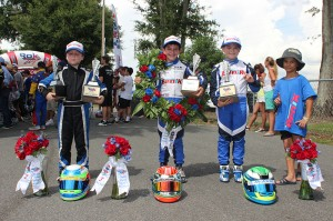 BENIK Kart drivers show off just some of the hardware gained in 2014 (Photo: Benik-Kart.com)