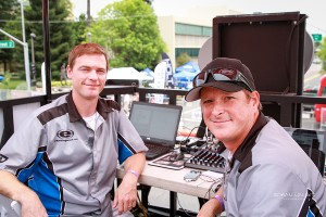 While we had a great vantage point of the action at the Modesto Grand Prix, David put in the hours all weekend, staying up until 4 am after the late Saturday night marathon (Photo: Roman Wagner)